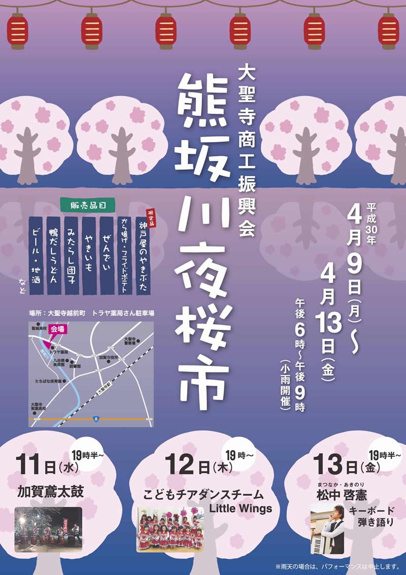 熊坂川夜桜市開催